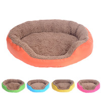 4 Colors Pet Dog Bed Winter Warm Dog House For Small Large Dogs Soft Pet Nest Kennel Cat Sofa Mat Animals Pad Pet Supplies S M L