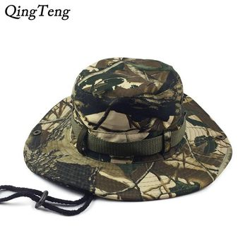 Camo Boonie Bucket Hats For Men Deadwood Camouflage Hat Army Wide Brim Casual Cap Flat Gorras