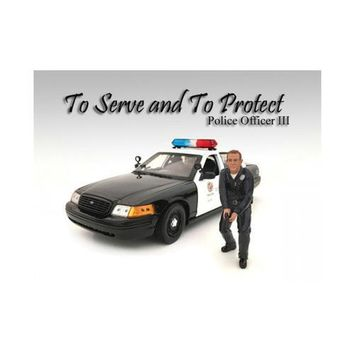 Police Officer III Figure For 1:18 Scale Models by American Diorama
