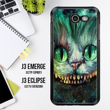 Alice In Wonderland And Cheshire Cats V1379 Samsung Galaxy J3 Emerge, J3 Eclipse , Amp Prime 2, Express Prime 2 2017 SM J327 Case