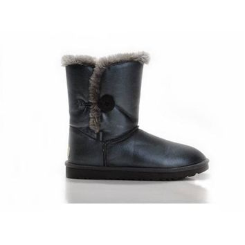 Ugg Boots Cyber Monday Bailey Button Bomber 5838 Navy For Women 106 12