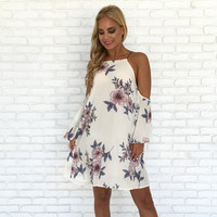 Beauty In Bloom Ivory Floral Dress