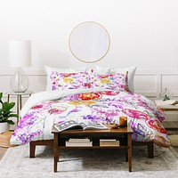 Holly Sharpe Pastel Rose Garden Duvet Cover