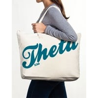 Kappa Alpha Theta Canvas Tote Bag - Sport