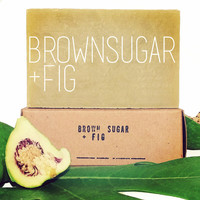 Brown Sugar + Fig Soap - Great Valentine's Day Gift Idea - For Her - For Him - Handmade Organic Soap - Natural Soap - Free of Palm Oil -