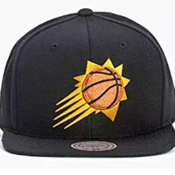 ONETOW Phoenix Suns Mitchell and Ness NBA Solid Snapback in Black