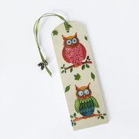 Funny owls wooden bookmark. Decoupage cute bookmark. OOAK book lovers gift. Holiday gift ideas. Back to school colorful owls bookmark.