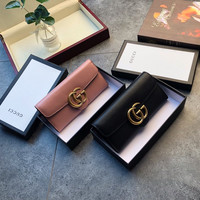 GUCCI GG Leather Flap Wallet