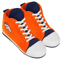 Denver Broncos High Top Sneaker SLIPPERS New -  U.S.A.