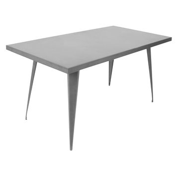"Austin Dining Table 59"" X 32"" Matte Grey"