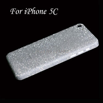 Full Body Protection Glitter Bling Sticker Case For iPhone 5C Case Strass Coque Luxury Shining Skin Cover For iPhone5C Funda