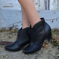 Deville Black Heel Ankle Booties