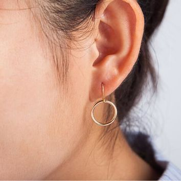 Minimalist Hollow Circle Earrings