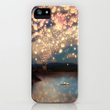 Love Wish Lanterns iPhone & iPod Case by Paula Belle Flores