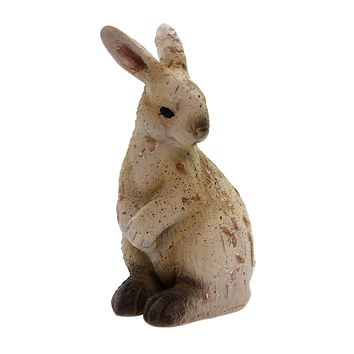 Home & Garden Antiqued Standing Bunny Figurine
