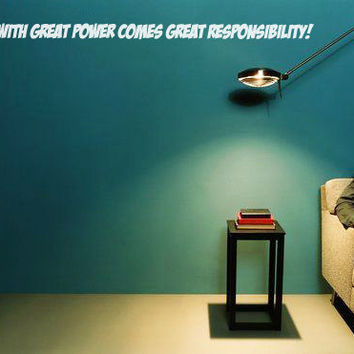 Spiderman Comic Book Vinyl Wall Decal  With by StickersForStuff