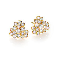 IPPOLITA - Glamazon Stardust Diamond & 18K Yellow Gold Cluster Stud Earrings - Saks Fifth Avenue Mobile