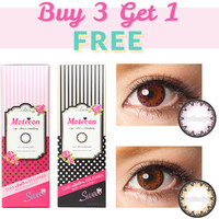 Motecon Eye-Dress 1-Day Color Contacts Combo (4 Boxes)