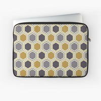 'Hexacomb' Laptop Sleeve by Kerry-Symetria