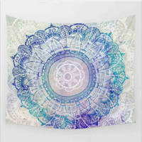 Purple Tapestry Colored Printed Decorative Mandala Tapestry Indian 130cmx150cm 153cmx203cm Boho Wall Carpet