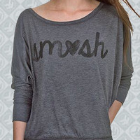 SM<3SH Flowy Long Sleeve Off Shoulder Tee Girl - Smosh Girls - Official  Online Store on District Lines