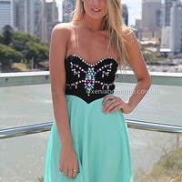 MINT JEWEL DRESS , DRESSES, TOPS, BOTTOMS, JACKETS & JUMPERS, ACCESSORIES, 50% OFF SALE, PRE ORDER, NEW ARRIVALS, PLAYSUIT, COLOUR, GIFT VOUCHER,,Green,Sequin,STRAPLESS Australia, Queensland, Brisbane