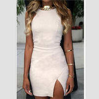 FASHION CUTE CUT ELEGANT DRESS