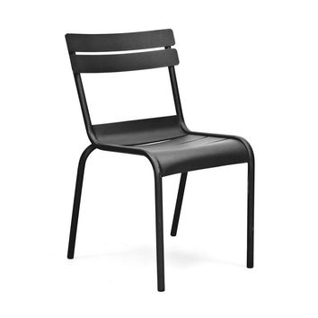 Chatou Black Stackable Metal Side Chair (Set of 4)