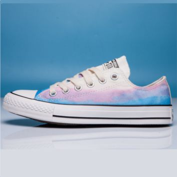 Converse Print All Star Sneakers for Unisex Hight tops sports Leisure Comfort Shoes Blue low tops