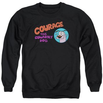 Courage The Cowardly Dog - Courage Logo Adult Crewneck Sweatshirt Officially Licensed Apparel