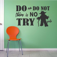 Vinyl Wall Lettering Do or Do Not Yoda Quote Decal