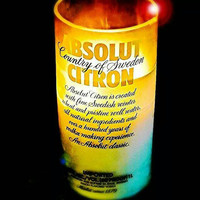Absolut Citron Flavored Vodka Bottle Natural Soy Candle