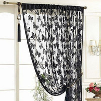 Home Curtains Butterfly Fringe String kitchen Curtain Panel bedroom living room design curtain 11 Colors