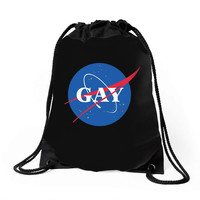 Nasa Gay Pride Drawstring Bags