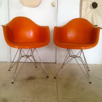 Mid Century Modern Orange Chairs