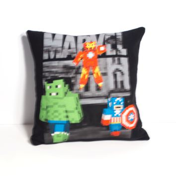 Avengers Minecraft Pillow