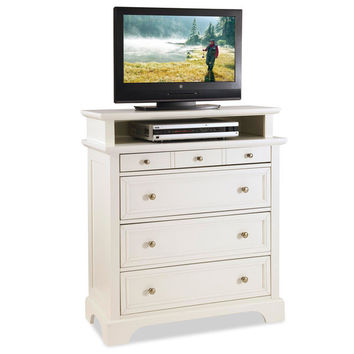Home Styles White Naples Media Chest   Overstock.com Shopping - The Best Deals on Dressers