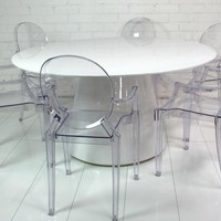 www.roomservicestore.com - White Mod Dining Table