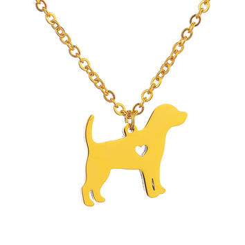 2016 Cute Pitbull Pendants Necklaces 18 k Gold Silver Body Chain Necklace for  Dog Lovers Birthday Gift