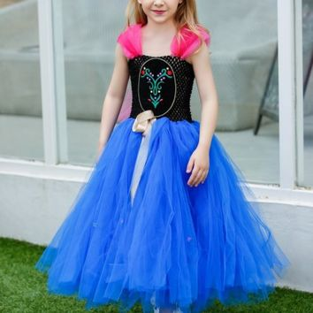 Buy Online Royal Blue and Black Birthday Party Tutu Dress for Children