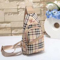 Burberry Women Leather Backpack Bookbag Daypack Satchel