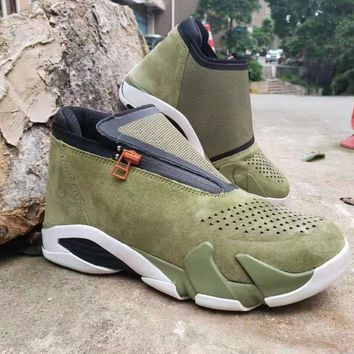 Jordan Jumpman Z Olive inspired by the Air Jordan 14 - Best Deal Online