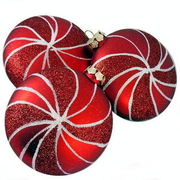 3 Christmas Ornaments - Red Shatterproof