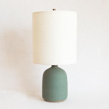Victoria Morris Matte Green Lamp at General Store