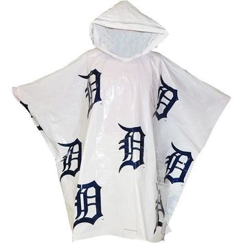 "MLB Detroit Tigers Old English ""D"" Lightweight Stadium Poncho"