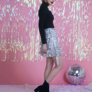 3 Layered Sequin Skirt/Shawl