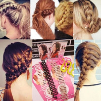 ew Women Fashion Hair Styling Clip Stick Bun Maker Braid Tool Hair Accessories = 5658492865