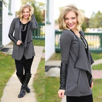 Leather Forecast Cardigan