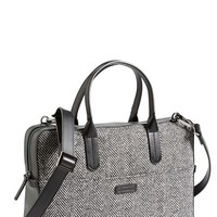 Men's Ben Minkoff 'Fulton' Herringbone Briefcase - Black