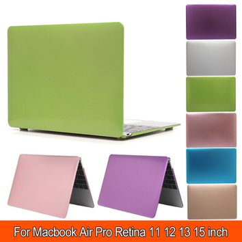 For Macbook case Metal Pattern Air 11 13 Pro 15 Retina 12 inch Silver or Gold Hard Plastic Protector for Apple Mac book